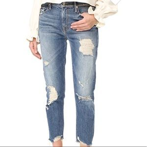 MOTHER jeans. NWT distressed straight leg